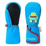 Skihandschuhe Kinder Winter Wasserdicht Winddicht Kinderhandschuhe Fäustlinge Ski Handschuhe,3M Thinsulate,Atmungsaktive-Geeignet für den Wintersport im Freien,Geeignet für Jungen,Mädchen MEHRWEG (M)