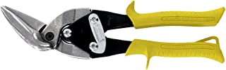 MIDWEST Aviation Snip - Straight Cut Offset Tin Cutting Shears with Forged Blade & KUSH'N-POWER Comfort Grips - MWT-6510S