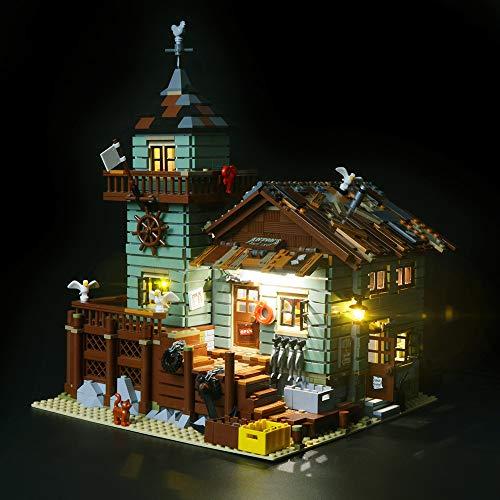 BRIKSMAX Alter Angelladen Led Beleuchtungsset - Kompatibel Mit Lego 21310 Bausteinen Modell - Ohne Lego Set