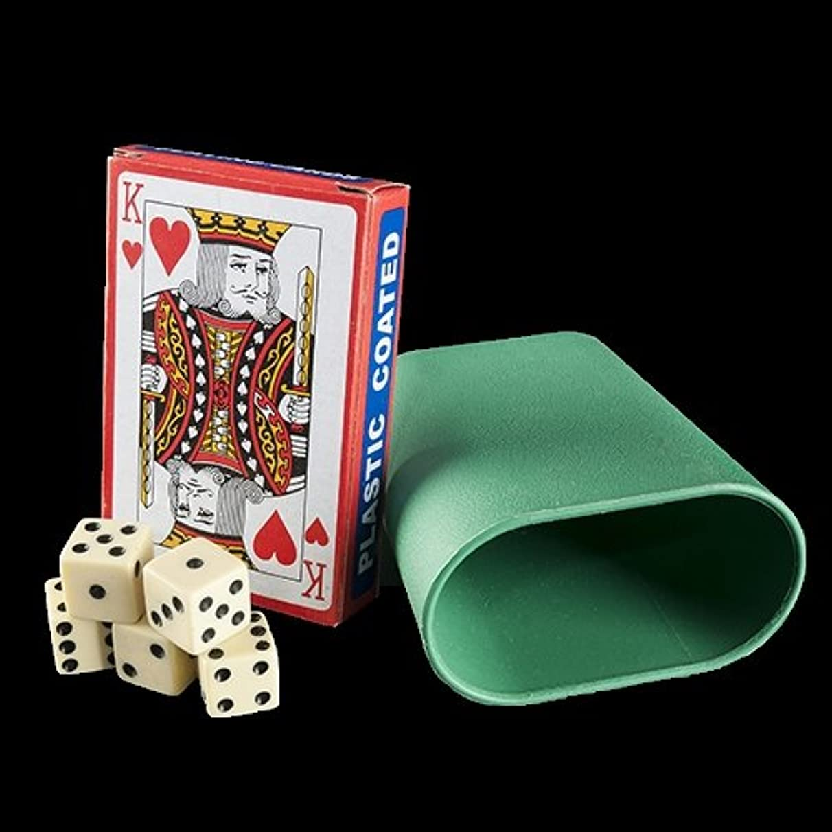 Deck of Poker Cards with Dice and Dice Cup - 1 set per pack