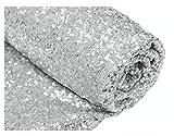 ShinyBeauty Pailletten-Stoff Meterware Schwarz 1 Meter