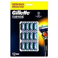Gillette Fusion5 Proglide Lamette da Barba, 12 Ricambi da 5 Lame, Delicatezza Insuperabile con Tecnologia Flexball, Fino a 1 Mese di Rasatura con 1 Lametta