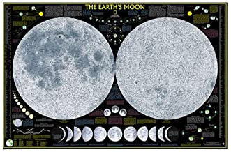 National Geographic: Earth's Moon Wall Map - Laminated (42.5 x 28.5 inches) (National Geographic Reference Map)