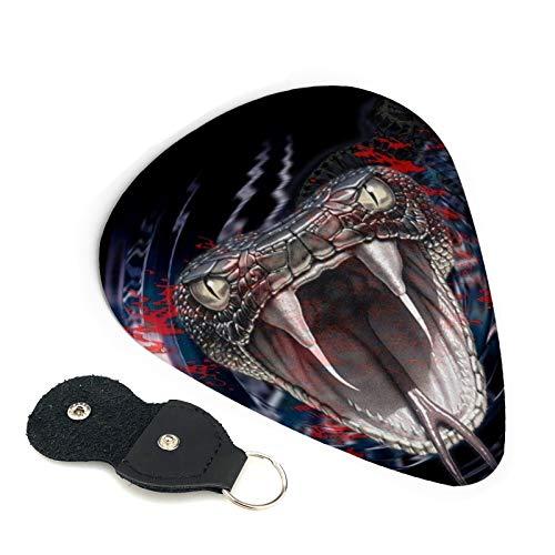 Viper - Juego de accesorios para guitarra y guitarra con cabeza de serpiente, con llavero de cuero, para guitarra, guitarra eléctrica, bajo, ukelele