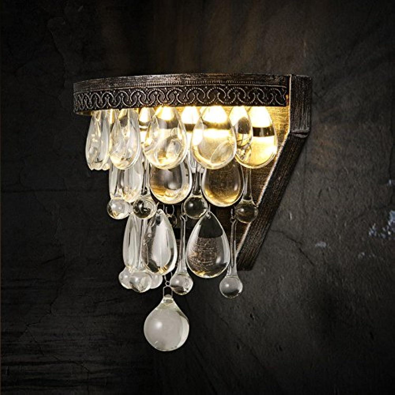 Lucky Fortress Wandleuchte Kreative Kristallwandlampe der Landgastrestaurantschlafzimmer-Nachttischhintergrundatmosphre Wandlampe