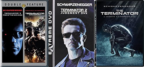 The Terminator 1/2/3 Sci-Fi classic DVD Judgement Day / Rise of the Machines / Salvation 4 Feature Movie Collection Set