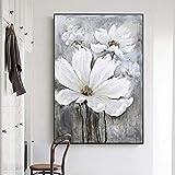 JHGJHK Pintura al óleo Abstracta del Arte de la Flor en la Lona, la...