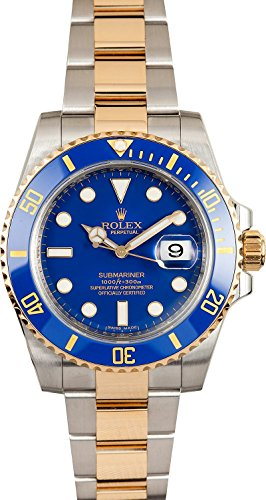 Rolex New Submariner 116613 Yellow Steel Gold Ceramic Blue Box/Paper/WTY #RL80