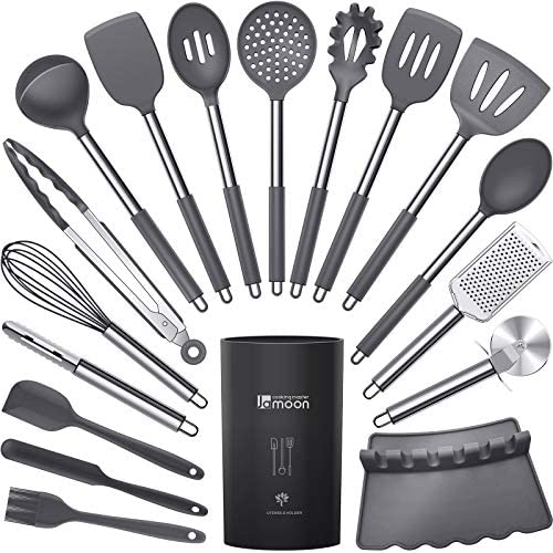 Silicone Cooking Utensils Set Heat Resistant Kitchen Utensils Turner Tongs Spatula Spoon Brush product image