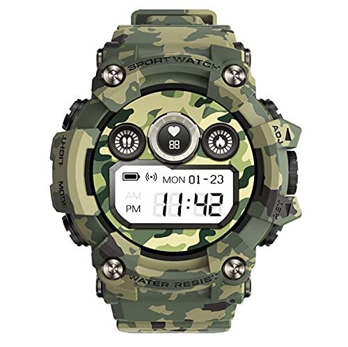 HQPCAHL Hombre Smartwatch, Pantalla 1.28' Reloj Deportivo Pulsera Actividad con Monitor de Sueño Pulsómetro Podómetro, Notificación Inteligente, Impermeable IP67 Rastreador de Salud,Negro