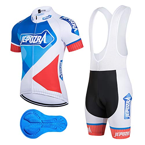 JEPOZRA Maillot Ciclismo Corto De Verano para Hombre, Respirable Secado Rápido Ciclo...