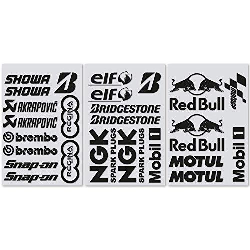 Kit 25 Adesivi Sponsor Tecnici Moto MotoGP Superbike Partners Stickers