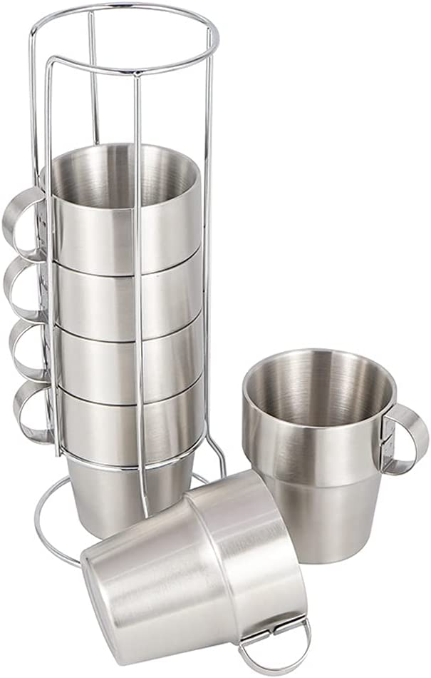 Nicejoy Stainless Steel Camping Cup with Spasm price Desg New York Mall Double Mug