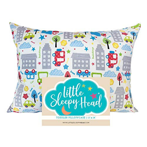Save %32 Now! Little Sleepy Head Toddler Pillowcase - Cars, 13 x 18 Inch