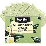 Teenitor Oil BlottingSheets, 100 Sheets Green Tea Oil Absorbing Tissues Paper, Large 10cmx7cm Oil...