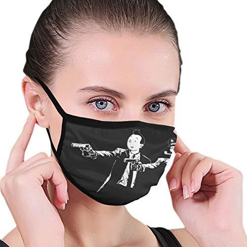 ghjkuyt412 Tintn y capitn eglefino pulpa ficcin sin costuras a prueba de polvo bufanda bandana cara cubre bufanda reutilizable