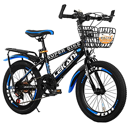 Axdwfd Kids Bike Mountain Bikes, Shock-absorbing Bikes, Children's Bikes, Boys And Girls Riding Bikes, Suitable For Children Aged 7-14 Bicycle(Size:20in,Color:Blue)