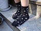 Deanyi Kawaii Calcetines Mujeres Espacio Calcetines de Las Mujeres de Corea de Moda de Verano Astronauta Planeta Calcetines Universo Novedad del Cortocircuito Calcetines Divertidos para Mujeres de