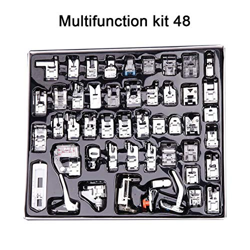 Purchase 32/52/62/72 Sewing Machine Presser Foot Pressure Feet for Brother Singer Sew Kit Braiding B...