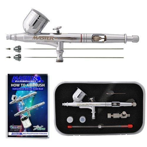 Master aerógrafo G233-SET Multiusos Precision Dual-Action Gravity alimentación aerógrafo Profesional Set by Master aerógrafo