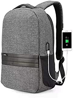 Kingsons 3187 Laptop Backpacks Waterproof for Business/School/Travel Laptop Backpack USB Charging Port for Laptop Up to 15.6 inch (Gray)
