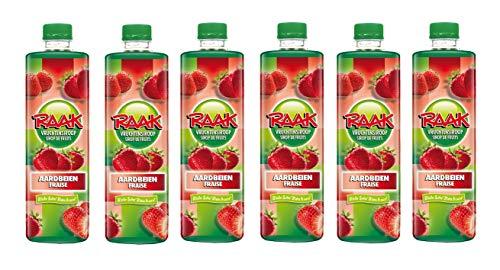 6 x Raak vruchtensiroop aardbeien- Getränke-Sirup Erdbeere (6 x 0,75L)