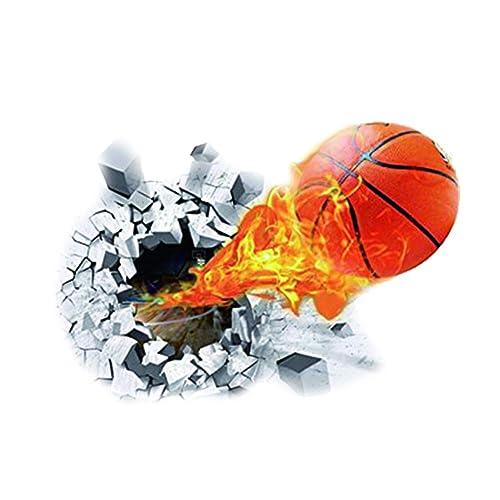 e510b3f681067 Dosige Stickers Muraux Décoratifs 3D Basketball Autocollants Muraux  Amovibles Sticker Mural Créatif Décoration