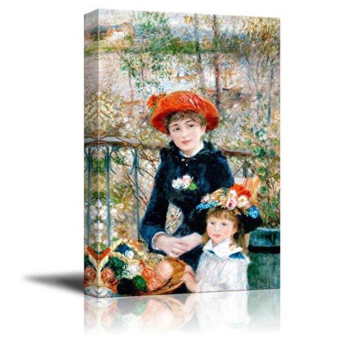 N\A Dos Hermanas (en la terraza) de Pierre-Auguste Renoir - Cuadro en Lienzo Arte de la Pared Pintura Famosa Reproducción 20