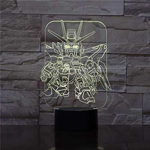 3D Led Hollywood Movie Transformadores de dibujos animados Autobots Night Light Club Decoración de oficina en casa Niños regalo ventiladores Mesa Escritorio Lámpara de mesa