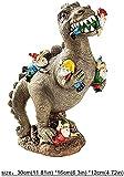 Dinosaurier Figuren Gartenzwerg Lustig Gartendeko Gartenzwerge Garten Deko Für Außen Gartenfiguren Für Haus und Garten L