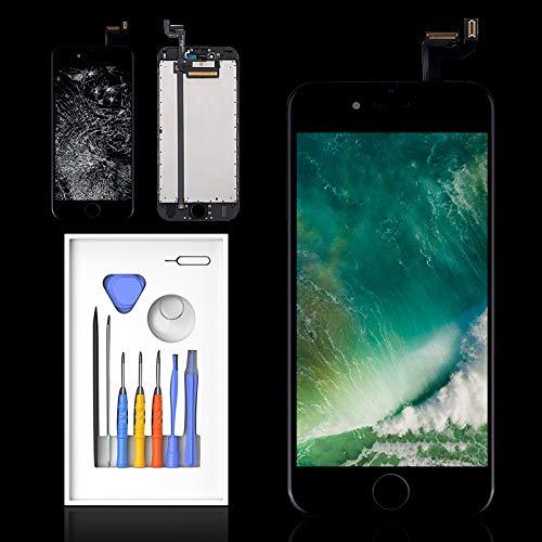 "Pantalla para iPhone 6s Negro, 4.7"" LCD Digitalizador Pantalla, Dureza Extrema, Compatible con 6S Pantalla, Antiarañazos, Antihuellas, Ultra Resistente Garantía 2 Años 100%"
