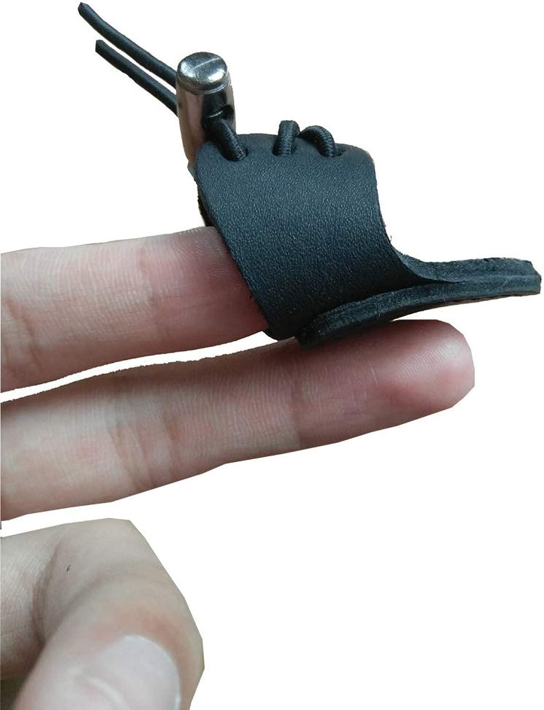 Nachvorn ソフトレザー 親指リング アーチェリー フィンガープロテクター モンゴルのリカーブボウ フィンガーガード 従来の弓プロテクター シューティンググローブ用