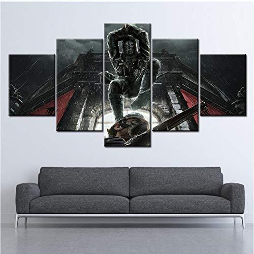 Wandkunstwerk HD Drucke Dekoration 5 Stück Dishonored 2 Spiel Poster Bild Moderne Leinwand Malerei Für Wohnzimmer Rahmen - 30cmX50cmX2 30cmX70cmX2 30cmX80cmX1