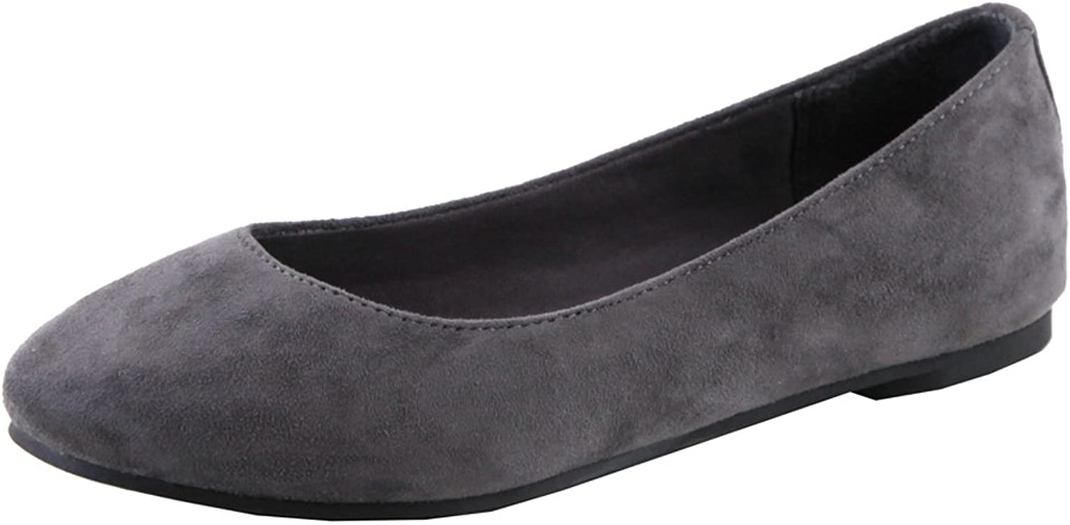Bella Marie Women's Classic Slip-On Closed Round Toe Ballet Flat