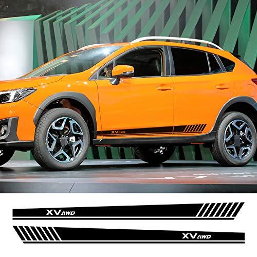 Qwldmj Auto Lange Seitenstreifen Aufkleber Vinyl Film Racing Sport Styling Aufkleber Automobile für Subaru XV Styling Tuning Autozubehör