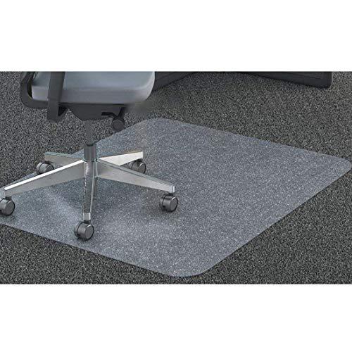 GIOVARA Claro Silla Alfombrilla para alfombras de Pelo Low-Medium Suelos, Rectangular, Material de Alta Resistencia de Impacto, Antideslizante, Non-Recycling, 90x120cm (3'x4')