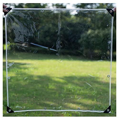AWSAD Telo Impermeabile PVC 0,3 Mm Telo Trasparentes Protezione Solare con Occhiello Tenda Vento E Pioggia for Mobili da Giardino for Piante da Fiore (Color : Transparent, Size : 0.5x2m)
