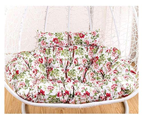 DYYD Egg Chair Cushion Printed Thick Hanging Egg Swing Chair Cushion/Hanging Rattan Chair Cushion/Removable Wash Cushion (Color : A)