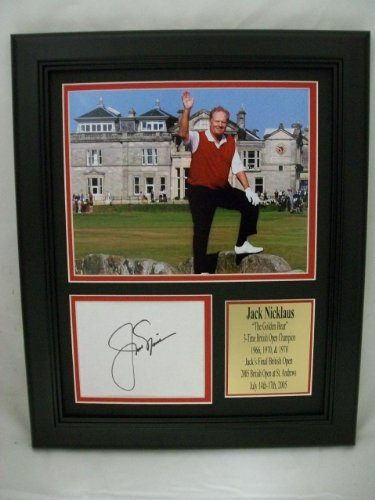 Jack Nicklaus 11x14 Framed Last British Open Photo With Autograph Reprint - Golf Cut Signatures
