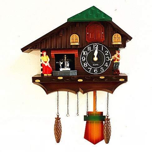 Yqs Reloj de Pared Canto de la Pared de la decoración Granja Mejores Ideas de Regalo la Venta de Relojes de Pared Antiguos (Color : Mu ltico LOR)