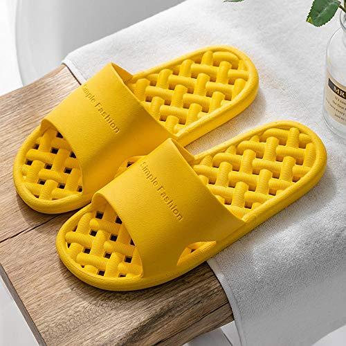 HUSHUI Suela De Espuma Suave Zapatos De Piscina,Sandalias de baño Antideslizantes, Pantuflas de Fondo Suave Resistentes al Desgaste-Amarillo_38-39,Zapatillas de Piscina Antideslizantes Unisex
