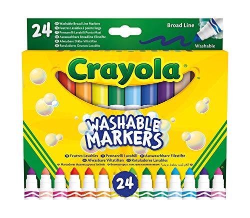 58 – 6570 Crayola 24 Rotuladores Súper Lavables Maxi Punt