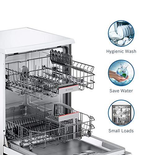 Bosch 13 Place Settings Dishwasher (SMS66GW01I, White)