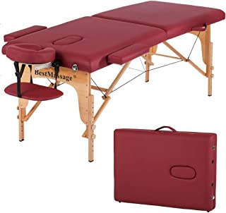 "Massage Table Massage Bed Spa Bed PU Portable 84"" 2 Fold Heigh Adjustable Massage.."