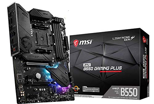 MSI MPG B550 GAMING PLUS - Placa Base Performance Gaming (AMD AM4 DDR4 M.2 USB 3.2 Gen 2 HDMI ATX), AMD Ryzen 5000 Series processors