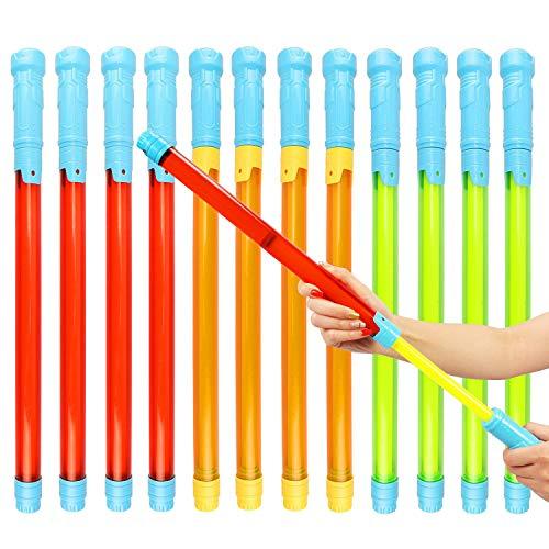 Latocos 12 Piezas Pistola de Agua de Juguete Largo Alcance Super Soaker Pistola de Agua Potente para Playa Piscina Juguete de Verano Aire Libre Juego para Ninos Adultos