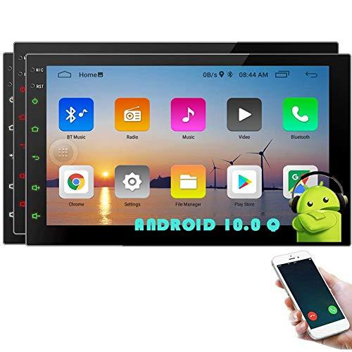 Autoradio Android 10.0 Doppio Din Car Stereo Touch Screen Bluetooth Navigazione GPS 2 Din Head Unit con 7 pollici Quad Core 1+16GB Supporto 3G 4G WiFi FM AM USB SD Schermo Specchio Comandi al volante