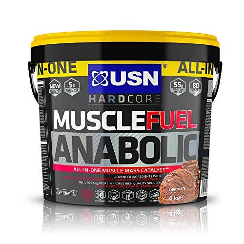USN Alles in Einem Muskel Treibstoff Anabol Schokolade Protein Pulver, 4000 g