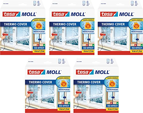 tesamoll® Thermo Cover Fensterisolierfolie (4,0m:1,5m / 5er Pack)