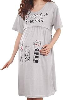 Topgrowth Camicia da Notte Donna in Raso Serico Pizzo Pigiama Merletto Biancheria Intima Taglie Forti Bambolina Abito da Notte